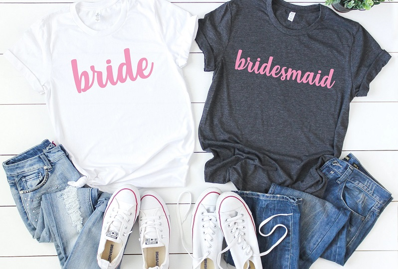 Jcubedk Makes The Perfect Bridesmaid Shirts for Your I Do Crew!